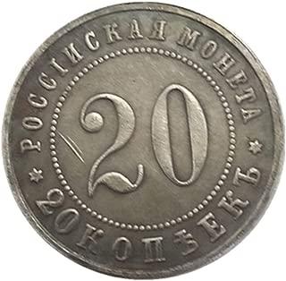 シルバーコインアンティークコレクション外国ロシア1911ハーフセント銀のドルの真鍮銀は銀のコインを記念貨幣をコピーメッキ