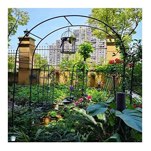 TCYLZ - Arco de montaje para jardín, marco de metal resistente para jardín, patio, exterior, arco decorativo