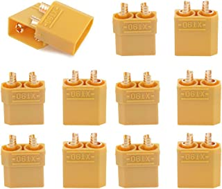 T-Trees XT90 Battery Connector Set for RC Lipo Battery Motor 5 Pairs Yellow ,5 Male Connectors + 5 Female Connectors