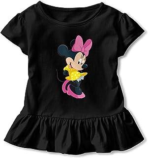 dbd47ceebf YHSGDMV Girls Minnie Mouse Short Sleeve Cartoon Casual Printing Dress  T-Shirt Nightgown 100%