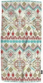Mugod Ethno Seamless Pattern Towel Ethnic Boho Ornament Tribal Art Print Decorative Soft Absorbent Guest Hand Towel Spa Gym Hotel Bath Bathroom Shower Towel 15x30 Inches