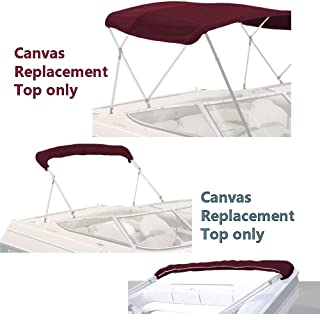 SavvyCraft 4 Bow Bimini Replacement Top Canvas Cover with Storage Boot Multi Color/Without Frame