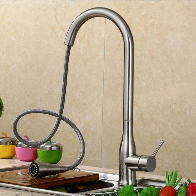 Lddpl Wasserhahn Ziehen Sie die Küchenarmatur Spüle Wasserhahn heien und kalten Spüle Wasserhahn Kupfer Teleskop drehbarer Wasserhahn