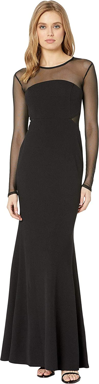 BCBGeneration Women's Long Sleeve Cut Out Maxi Dress