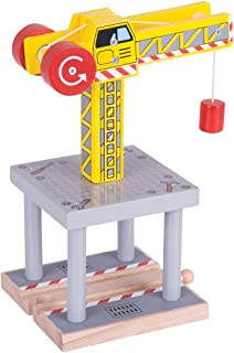 Bigjigs Rail Magnetic Big Yellow Crane - Other Major Wooden Rail Brands are Compatible