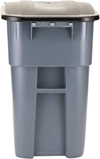 Rubbermaid Brute Big Wheel 50-Gal Square Container Gray