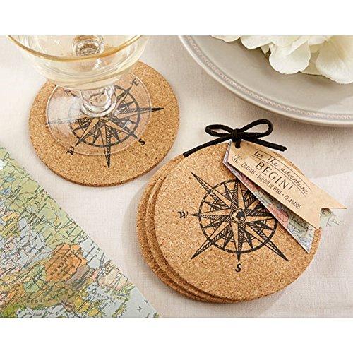 Let The Journey Begin Cork Coasters (pack of 24 sets)