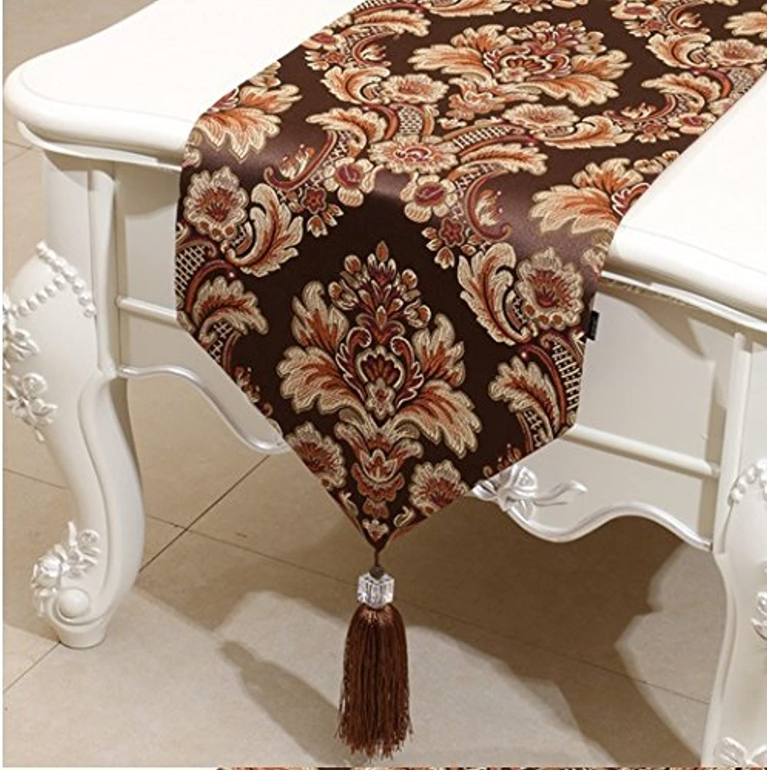YOTA HOME Table Runners European Luxury Table Flag Modern Simple Table Flag Fashion Table Coffee Tablecloth Tablecloth Bed Flag (Size   33  200cm)