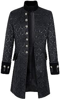 CICIYONER ❤Herren Party Oberbekleidung❤ Print Mantel❤ Frack Jacke Gothic Gehrock Uniform Kostüm S-XXXL