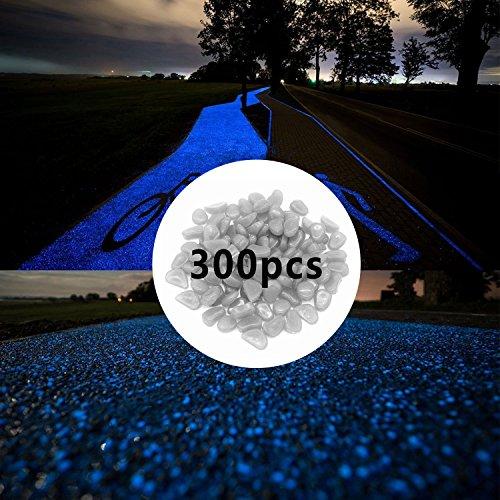 SLOMG - Piedras que brillan en la oscuridad (300 unidades) para estanques,...