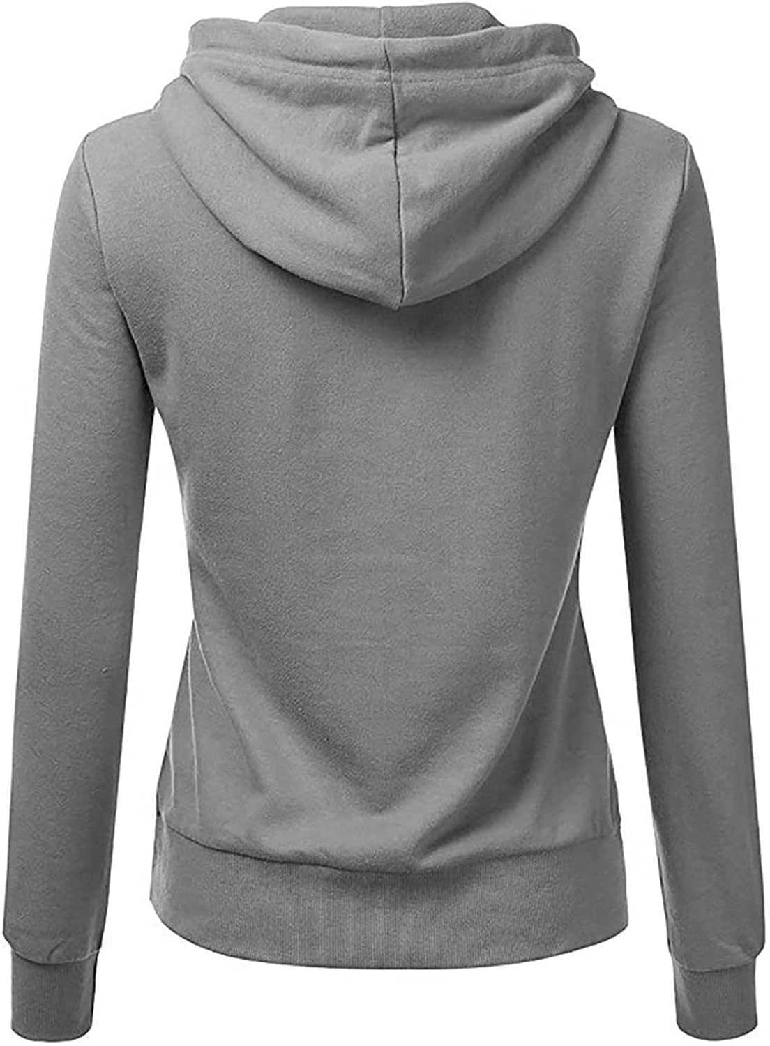 BEUU Hoodies for Women Solid Hooded Sweatshirt Basic Drawstring Pullover Jersey Jacket Long Sleeve Top with Pockets