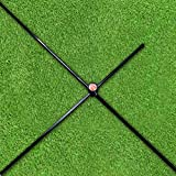 The Elixir Set of 2 Golf Alignment Stick Rods Training Aids + (2) 90 Degree Connector, 36 inches Rods fits in Your Golf Bag, Golf Swing Plane Aiming Putting Practice Trainer Aid Equipment Rod Sticks
