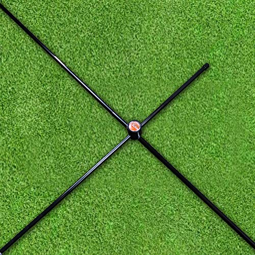 The Elixir Set of 2 Golf Alignment Stick Rods Training Aids + (2) 90 Degree...