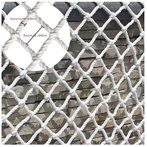 AI LI WEI Protective net decoratie/wit kinderen trappen veilige netten wit kabelnet BAU veilig net buitenshuis tuin bescherming net hamermok schommel klimnet touw bagageruimte dekking
