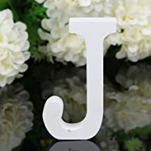 Totoo Decorative Wood Letters, Hanging Wall 26 Letters Wooden Alphabet Wall Letter for Children Baby Name Girls Bedroom Wedding Brithday Party Home Decor-Letters (J)