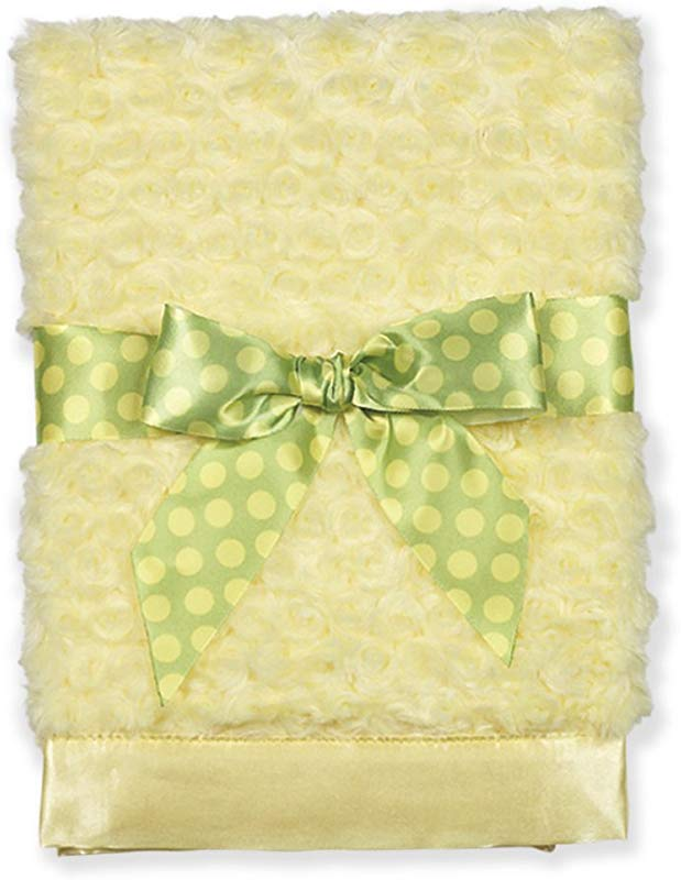 Bearington Baby Swirly Snuggle Blanket Yellow 28 5 X 28 5