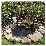Gzhenh HDPE Rubber Pond Liner, Schutzunterlage Flexibel Zugeschnitten Zum Wassergarten Terrarium-Bäche Teichhäute Sonnenschutz Und Langlebig (Color : Black-0.35mm, Size : 6x8m)