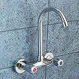 OEWFM Wasserhahn Doppelgriff Deck Montiert Waschbecken Wasserhähne Bad Dusche Wasserhähne Dual Loch Waschbecken Waschbecken Wasser Mischbatterie