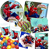 101-teiliges Party-Set * ULTIMATE SPIDERMAN WEB WARRIORS * für Kindergeburtstag mit 6-8 Kinder:...