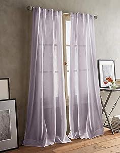 DKNY Paradox Back Tab Sheer Window Curtain Panel Pair