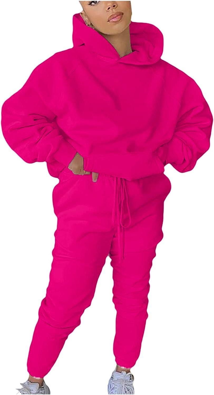 Women Two Piece Outfits Sets,Long Sleeve Toe-dye Pullover Hoodie Sweatsuit Set Tracksuits Sport Loungewear Pajamas