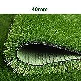 YNGJUEN 40mm Künstliche Simulation Rasen Grün Mat Fruit Shop Gefälschte Turf Dachterrasse Sonnendachisolierung Teppich Dekoration (Color : Spring Grass, Size : 2mx0.5m)