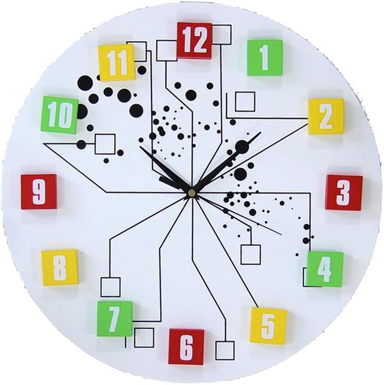 aquí tiene la última WEEKDEGY Reloj de Parojo 40 cm Viven Reloj Reloj Reloj de Parojo Reloj de Parojo Mudo Creativo Moderno Reloj de Parojo Decorativos (Color   blancoo)  precios mas bajos
