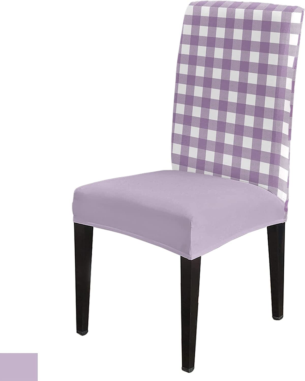 6 Per Opening large release sale Set Geometric Pueple Checkered Soldering Chair for Roo Dining Covers