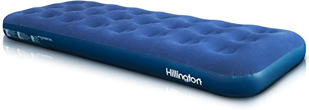 Waterproof Flocked Topping and Large Valve for Rapid Inflation and Deflation Folds for Storage Hillington Flocked Air Bed Ideal for Camping or as a Temporary Guest Airbed