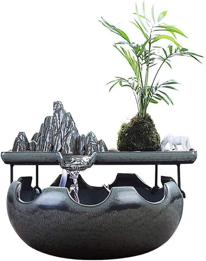 Max 85% OFF CDDJJ Indoor Fountains Decoration Desktop Fish Cer Max 72% OFF Fountain Tank
