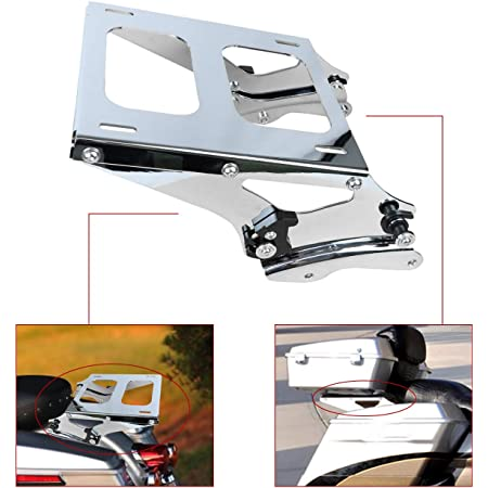 ONETK Detachables Two-Up Tour Pack Mounting rack w//Docking Hardware fits for 2014-2020 Harley Davidson Touring FLHR FLHXSE FLTRX and FLTRXS,Chrome FLHT FLHRC FLHX FLHRSE FLHXS