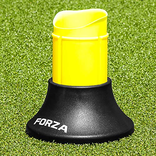 Forza Telescopic Rugby Kicking Tee (Black & Yellow) (Extends to 2in High) – Improve Your Placekicker's Aim & Accuracy [Net World Sports]