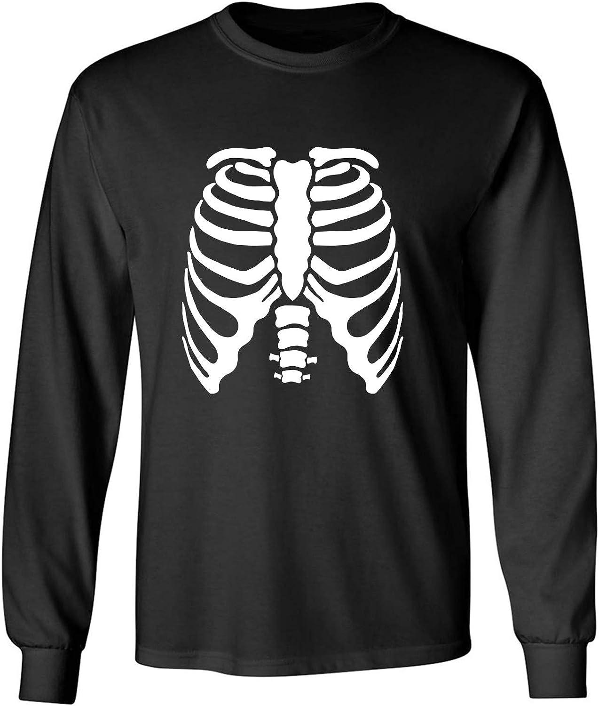 zerogravitee Skeleton Ribs Adult Long Sleeve T-Shirt