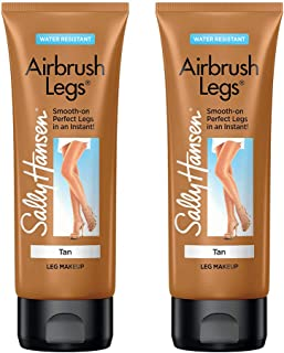 Sally Hansen Airbrush Legs, Leg Makeup Lotion, 4oz, Tan/bronze, 2 Count