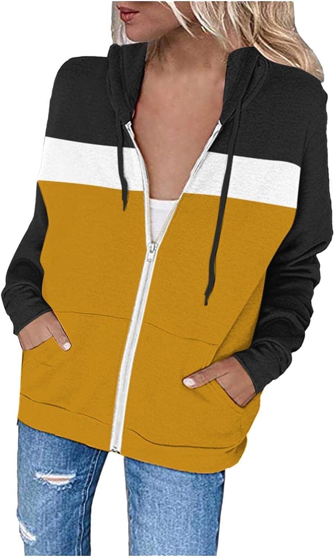 Aunimeifly Women's Casual Zip Up Light Hoodie Long Phoenix Mall Trust Sleeve Jacket