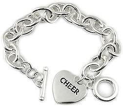 Cheer Bracelet, Girls Cheerleading Bracelet, Cheer Jewelry for cheerleader and cheer coaches, cheerleading team gift...