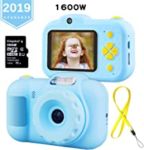 K KUMEED Gifts Kids Toy Camera 16.0MP HD 2.4 Inches Screen Kids Video Camera Anti-Drop Children Selfie Toy Mini Cartoon Child Camcorder with 16GB Memory Card for 3-14 Year-Old (Blue)