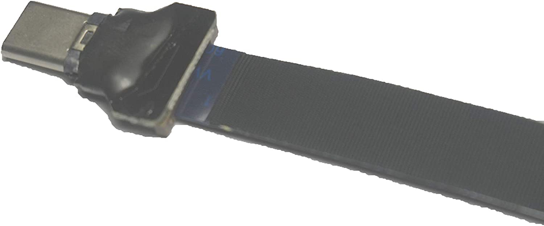 abgewinkelt zu USB-Typ-C flexibles FFC-USB-C-FPV-Flexibles FPC-Kabel gerade f/ür Synchronisation und Laden von Schwarz USB-Typ-C 40CM 90 Grad weiches lange Flaches