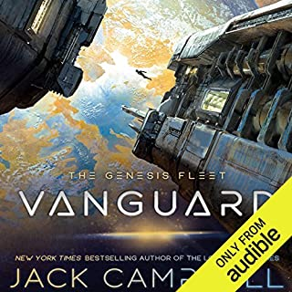 Vanguard     The Genesis Fleet, Book 1              Written by:                                                                                                                                 Jack Campbell                               Narrated by:                                                                                                                                 Christian Rummel                      Length: 9 hrs and 27 mins     46 ratings     Overall 4.3
