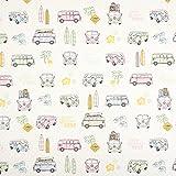 Fabulous Fabrics Canvas Bulli Love 2 – Sand/rosa —