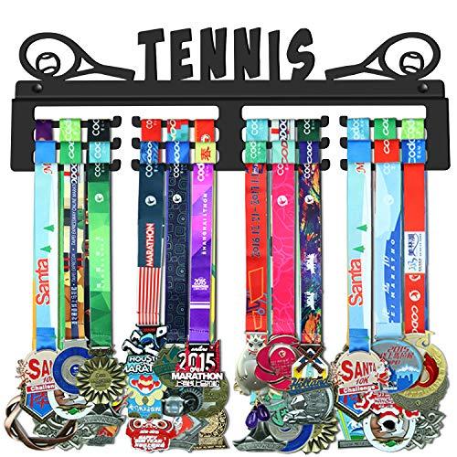 WEBIN Tennis Medaillen Aufhänger Halter Display Rack,Schwarz Super Hart Stahl Metall,Wandmontage Über 50 Medaillen