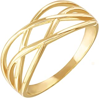 High Polish 14k Yellow Gold Celtic Knot Ring for Women