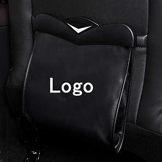 Car Backseat Hanging Trash Bag Can for Tesla Model 3, With LED Light, Premium PU Leather Waterproof Magnetic Litter Garbag...