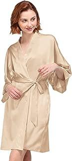 AW Women's Silky Robe, Satin Kimono Bathrobe for Wedding Party Brides Bridesmaids Loungewear