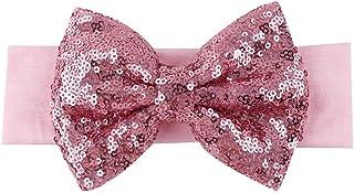 BAOBAO Kid Girl Glitter Shiny Sequined Bow Turban Knot Hair Band Headband