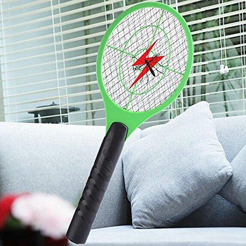 Mosquito Killer Electric Tennis Raqueta de mano para insectos y moscas para el día de San Patricio al azar