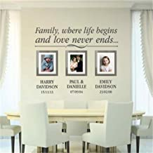 Bluegiants Wall Words Sayings Removable Lettering Family Photos Frames