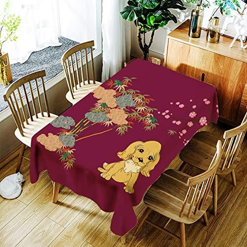 XXDD Mantel para Cachorros, Mantel con patrón de ratón de Dibujos Animados creativos, cómodo, Impermeable, Mantel para el hogar, Cubierta A1 140x140cm