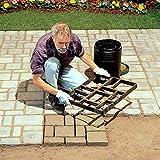Leedy, stampo per pavimentazione fai da te per pavimenti in cemento, riutilizzabile, stampo per mattoni, stampo in pietra, stampo in plastica, durevole per lastre da giardino