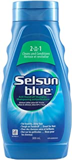 Selsun Blue 2-In-1 Anti-Dandruff Shampoo, 300 mL, Helps Control Dandruff, Itching and Flaking, Cleans & Conditions in One ...
